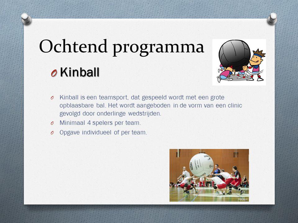 Ochtend programma Kinball