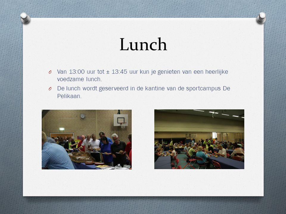 Lunch Van 13:00 uur tot ± 13:45 uur kun je genieten van een heerlijke voedzame lunch.