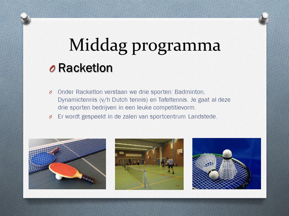 Middag programma Racketlon