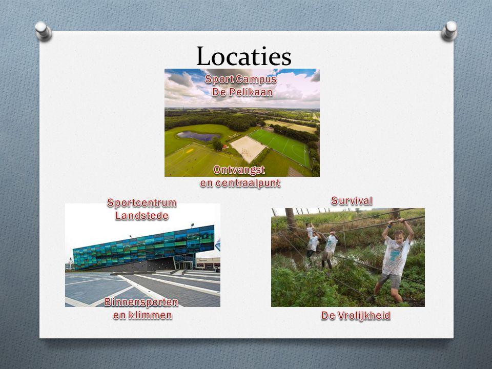 Locaties Sport Campus De Pelikaan Ontvangst en centraalpunt Survival