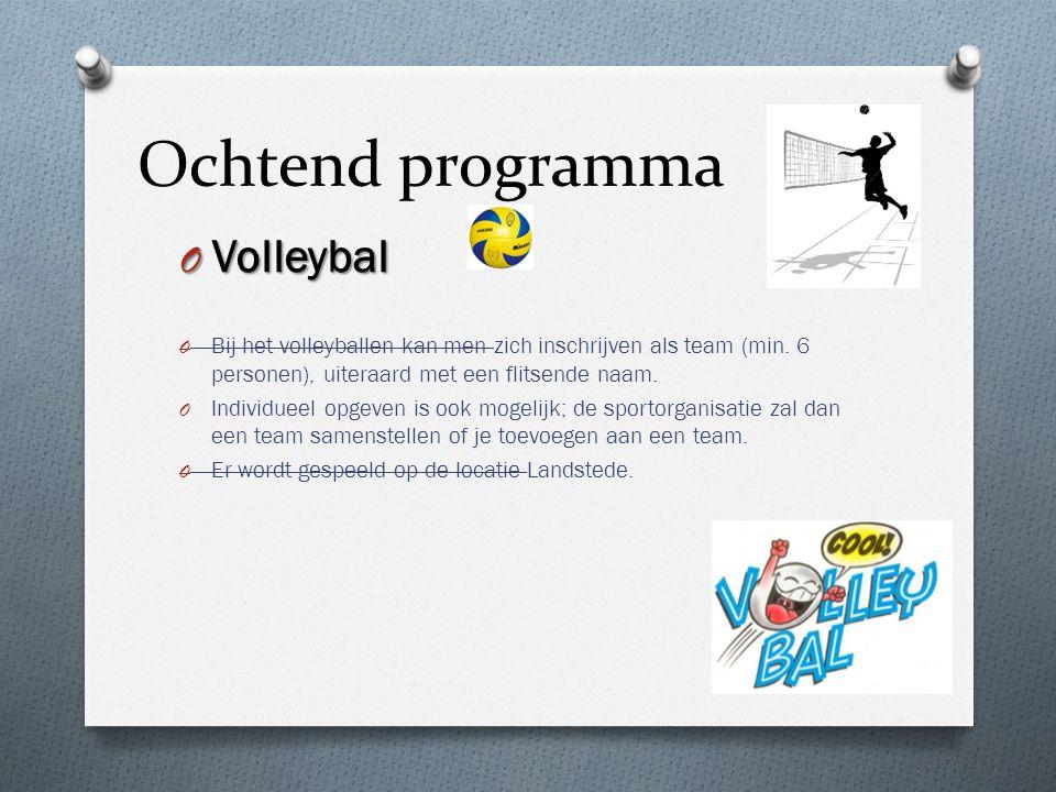 Ochtend programma Volleybal