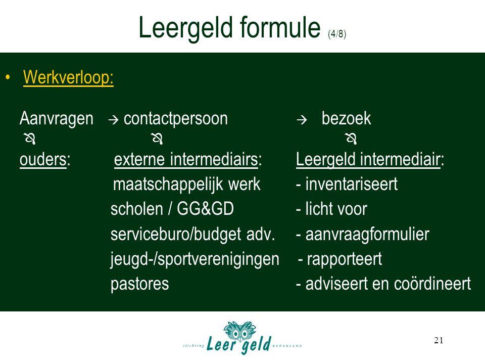 Leergeld formule (4/8) Werkverloop: scholen / GG&GD - licht voor