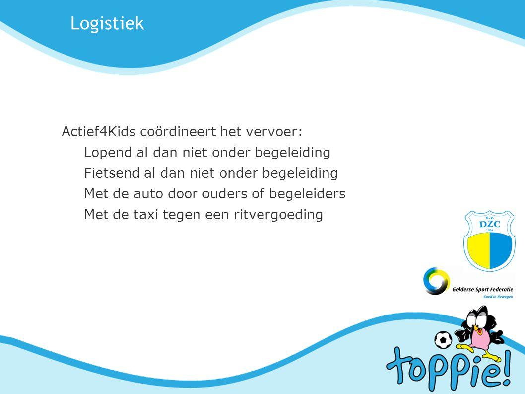 Logistiek Actief4Kids coördineert het vervoer: