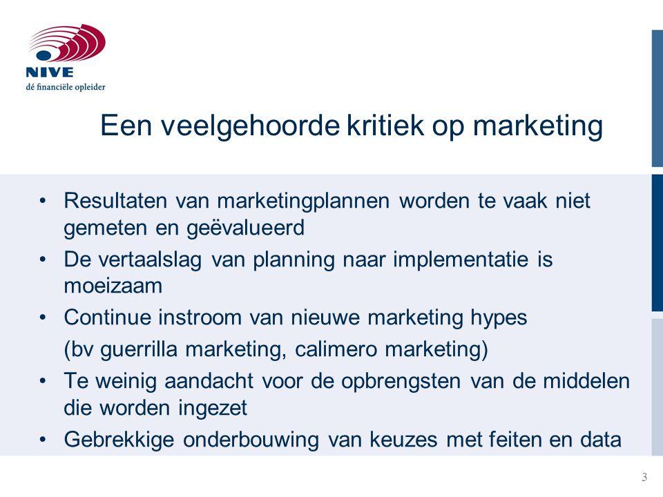 Een veelgehoorde kritiek op marketing