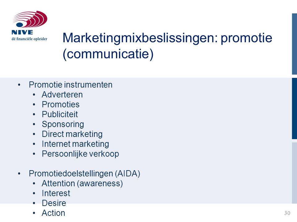 Marketingmixbeslissingen: promotie (communicatie)