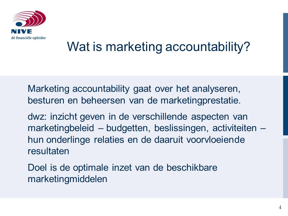 Wat is marketing accountability