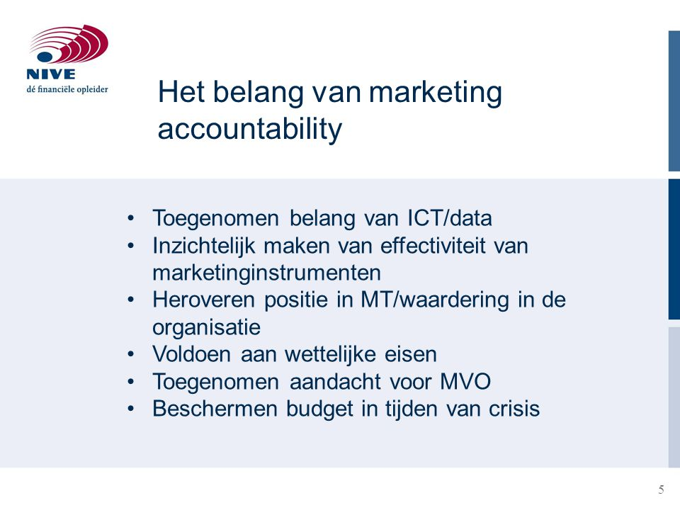 Het belang van marketing accountability