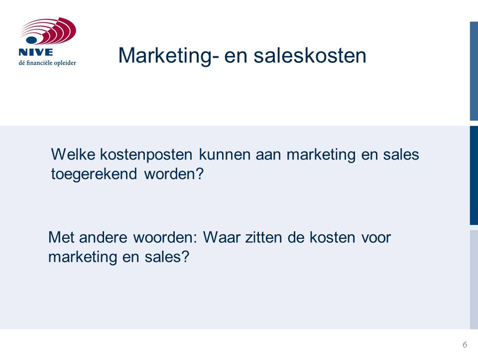 Marketing- en saleskosten