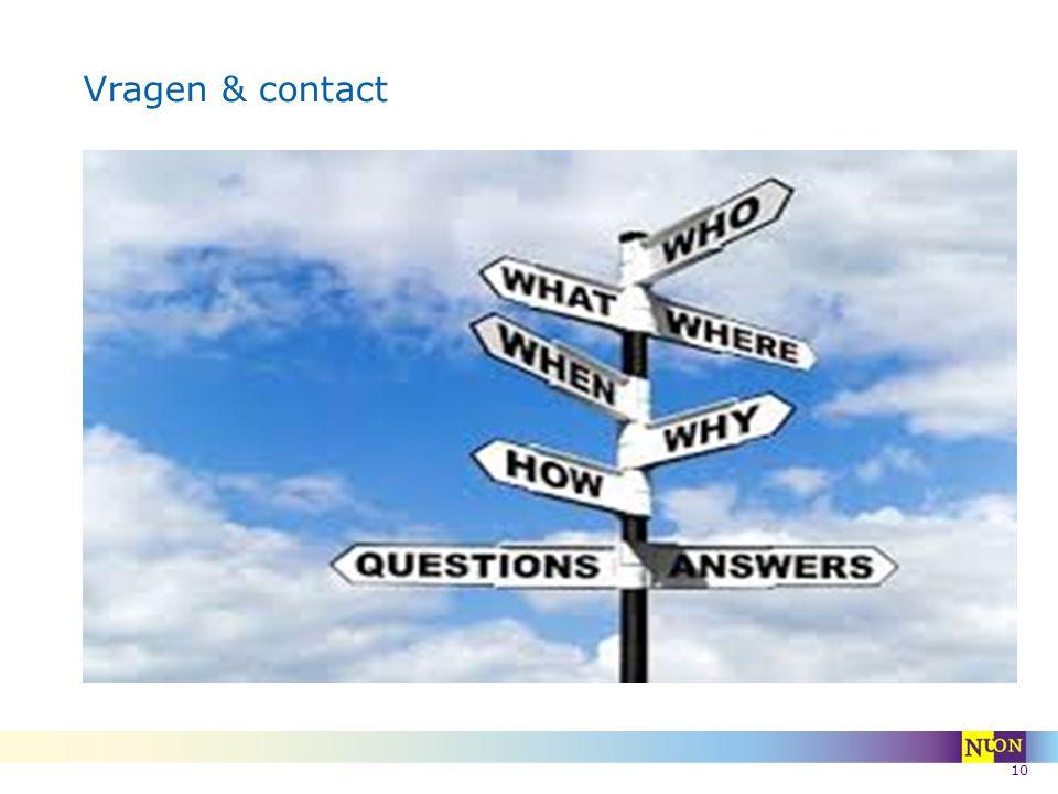 Vragen & contact