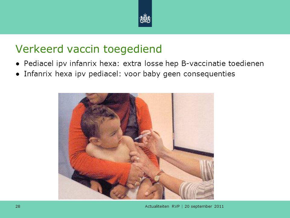 Verkeerd vaccin toegediend