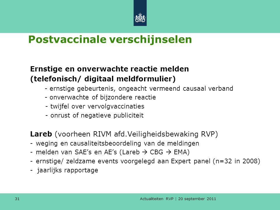 Postvaccinale verschijnselen