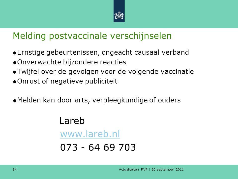 Melding postvaccinale verschijnselen
