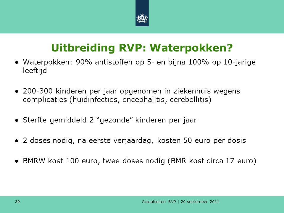 Uitbreiding RVP: Waterpokken