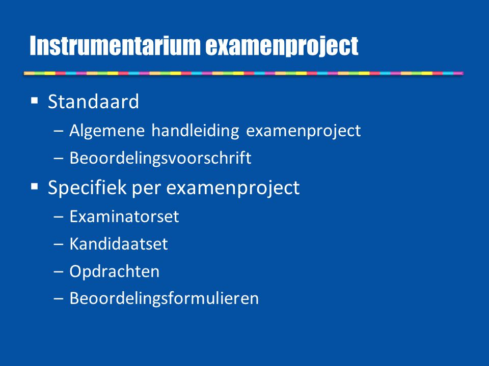 Instrumentarium examenproject