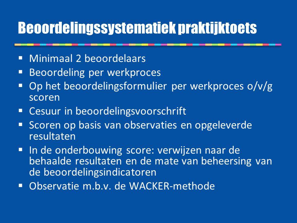 Beoordelingssystematiek praktijktoets