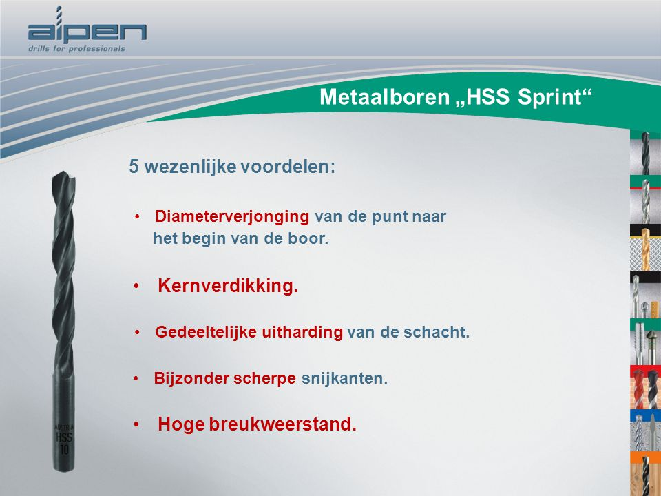 "Metaalboren ""HSS Sprint"