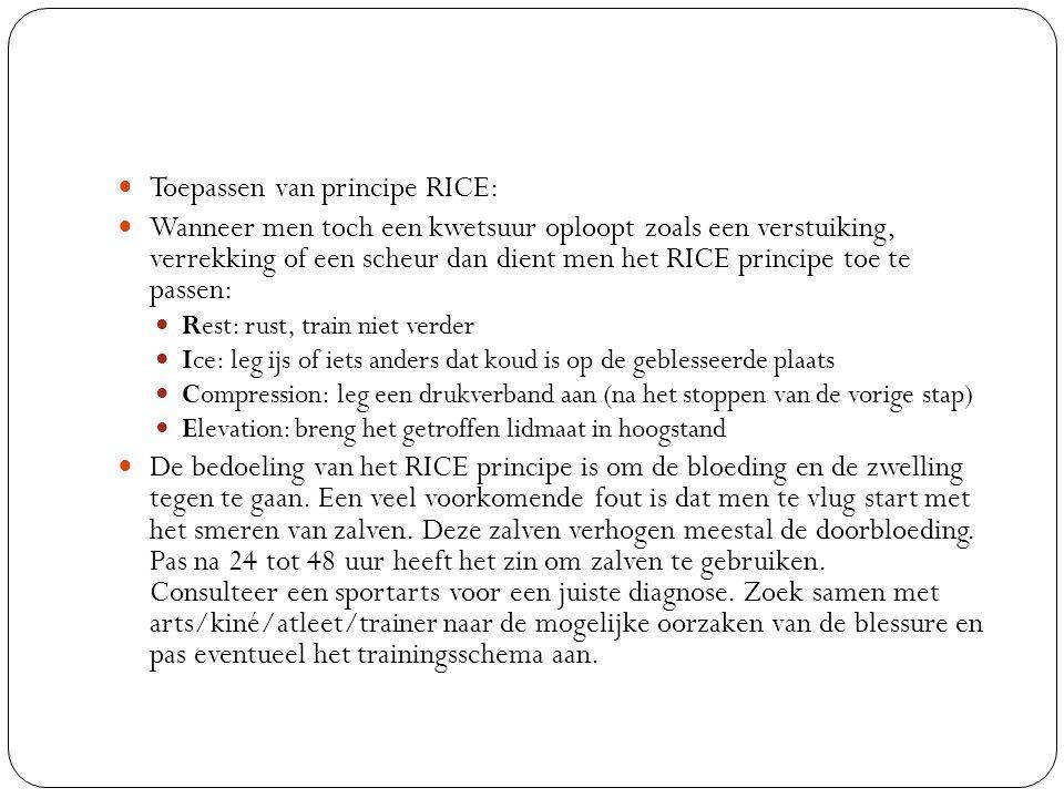 Toepassen van principe RICE: