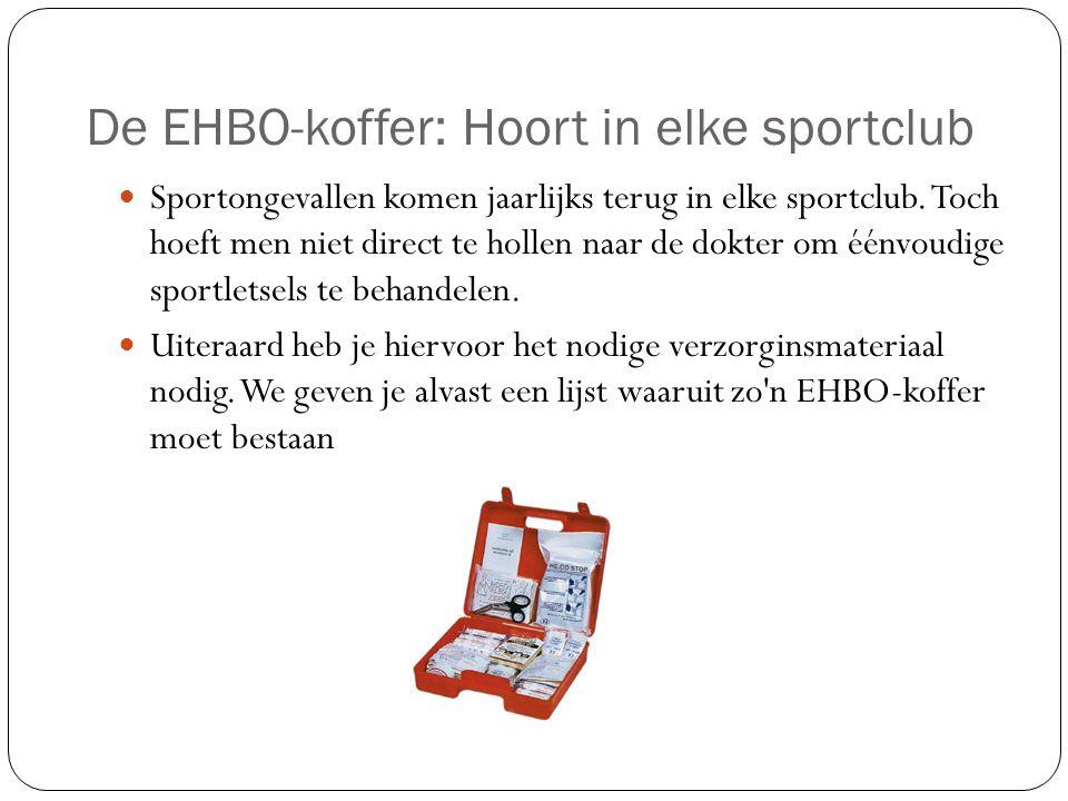 De EHBO-koffer: Hoort in elke sportclub