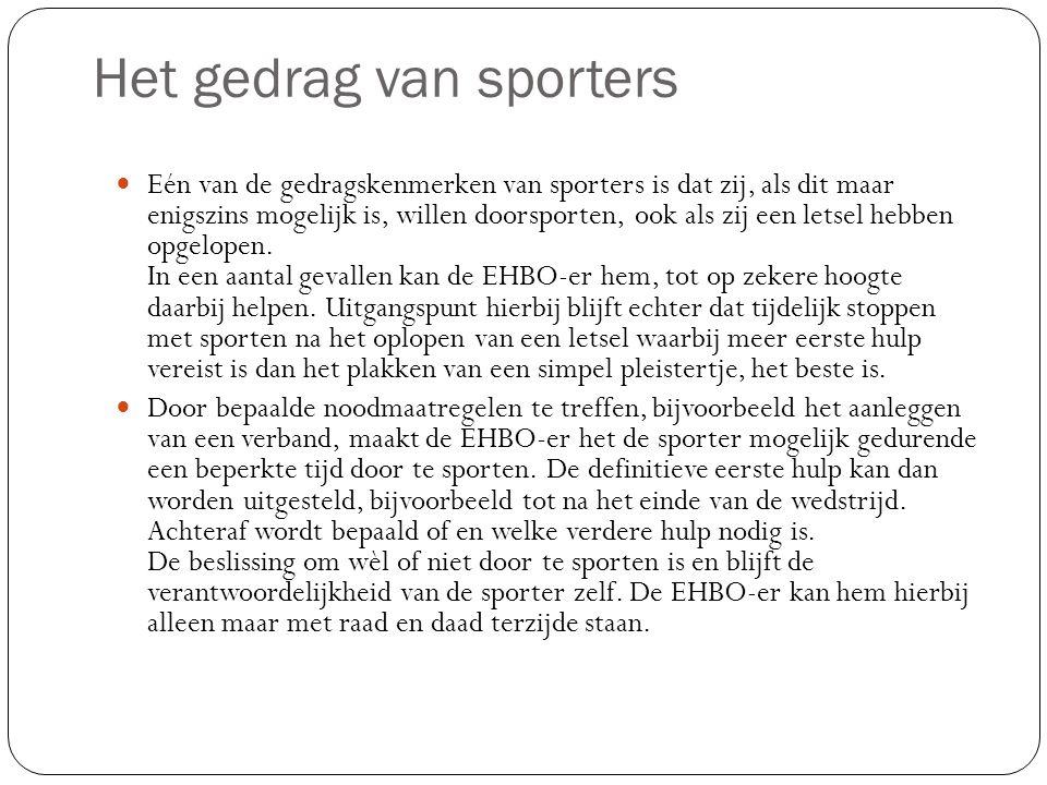 Het gedrag van sporters