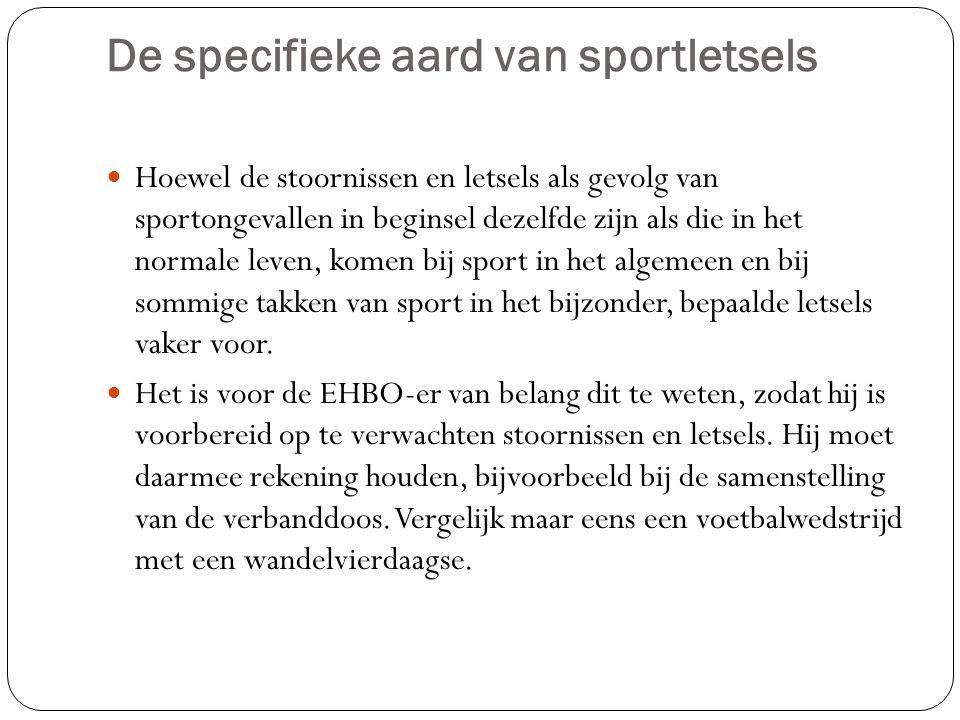 De specifieke aard van sportletsels