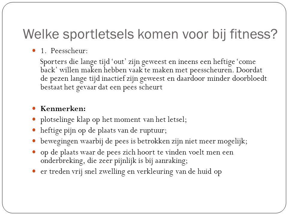Welke sportletsels komen voor bij fitness