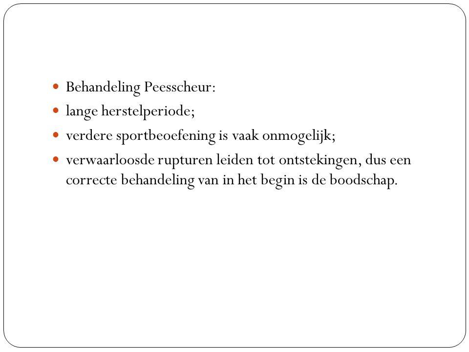 Behandeling Peesscheur: