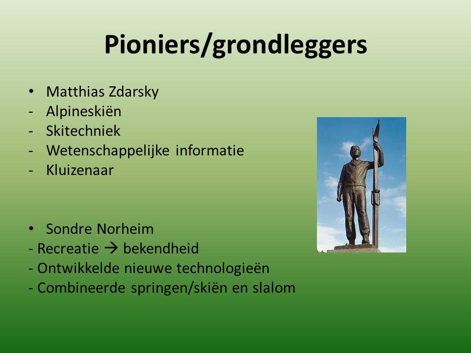 Pioniers/grondleggers