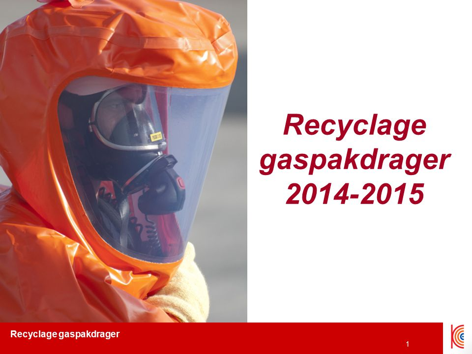Recyclage gaspakdrager 2014-2015