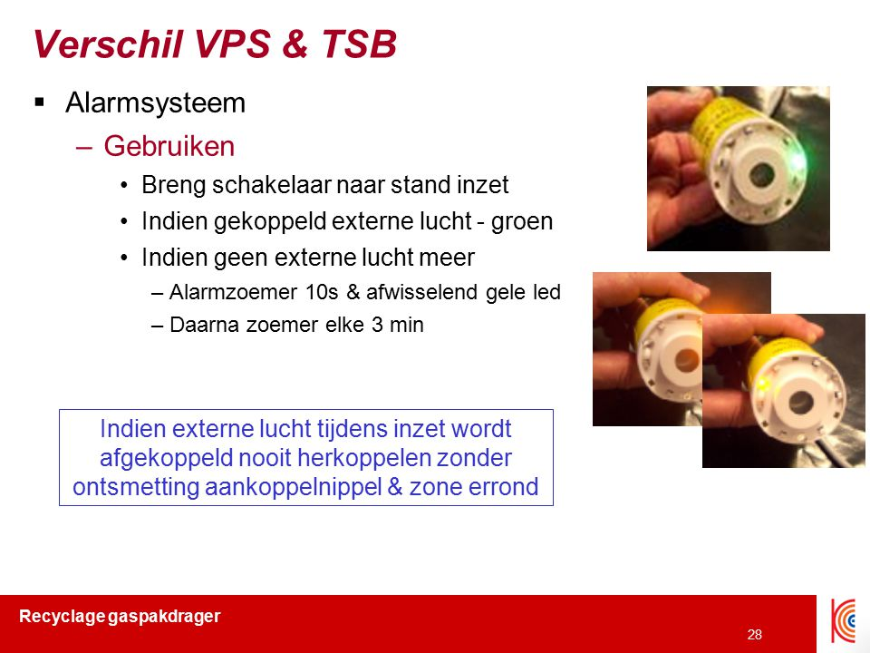 Verschil VPS & TSB Alarmsysteem Gebruiken