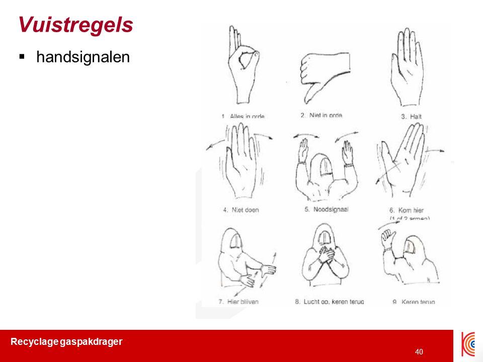 Vuistregels handsignalen