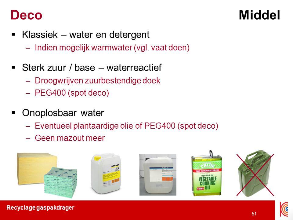 Deco Middel Klassiek – water en detergent