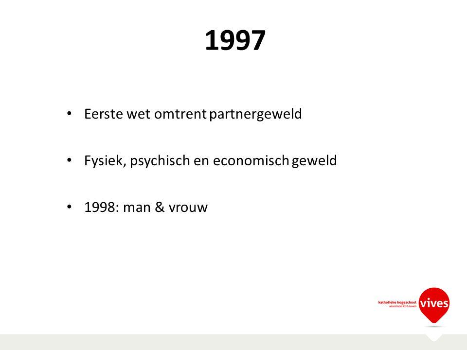 1997 Eerste wet omtrent partnergeweld