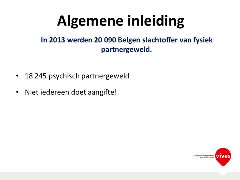 In 2013 werden 20 090 Belgen slachtoffer van fysiek partnergeweld.