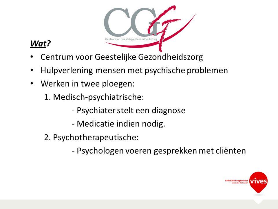 CGG Wat Centrum voor Geestelijke Gezondheidszorg