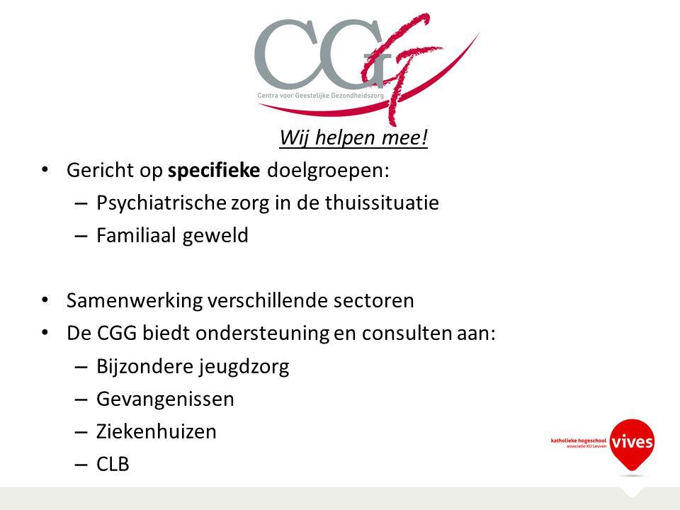 CGG Wij helpen mee! Gericht op specifieke doelgroepen: