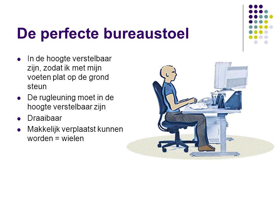 De perfecte bureaustoel