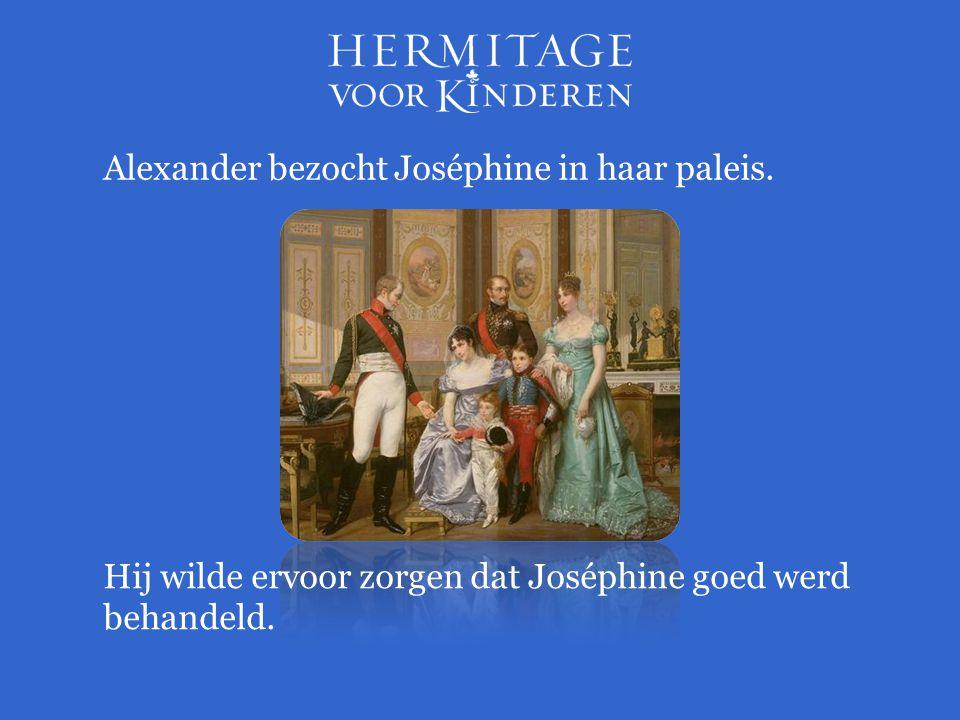 Alexander bezocht Joséphine in haar paleis.