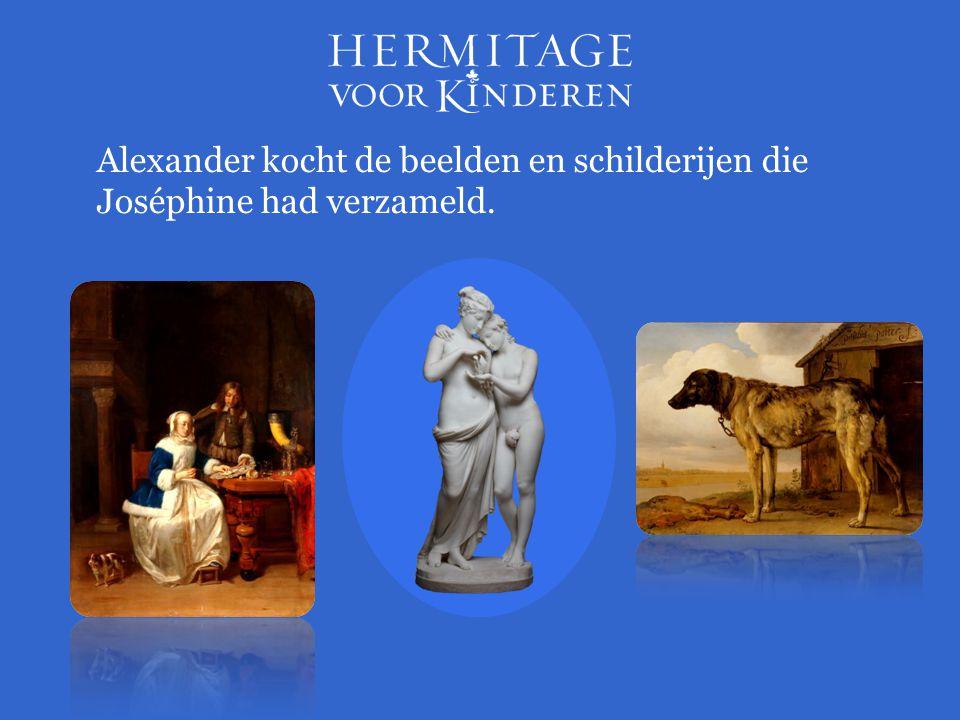 Alexander kocht de beelden en schilderijen die Joséphine had verzameld.