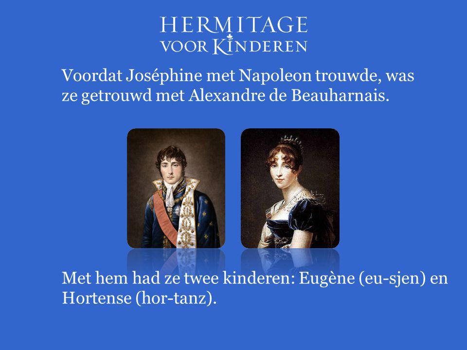 Voordat Joséphine met Napoleon trouwde, was ze getrouwd met Alexandre de Beauharnais.