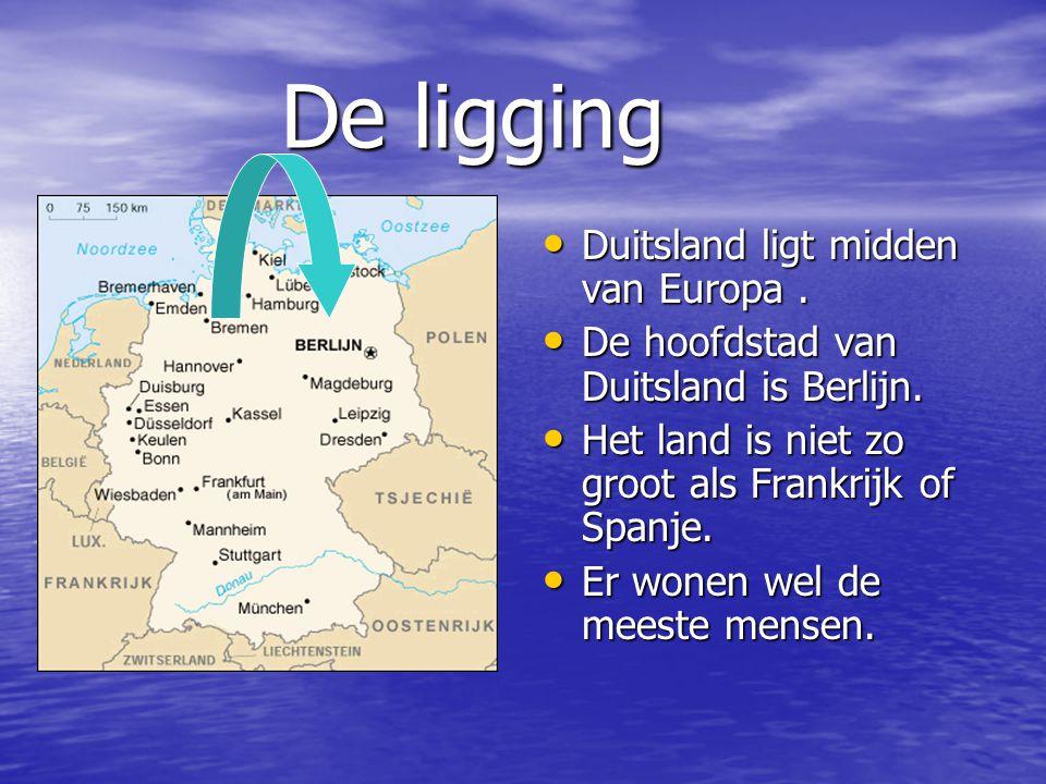 De ligging Duitsland ligt midden van Europa .