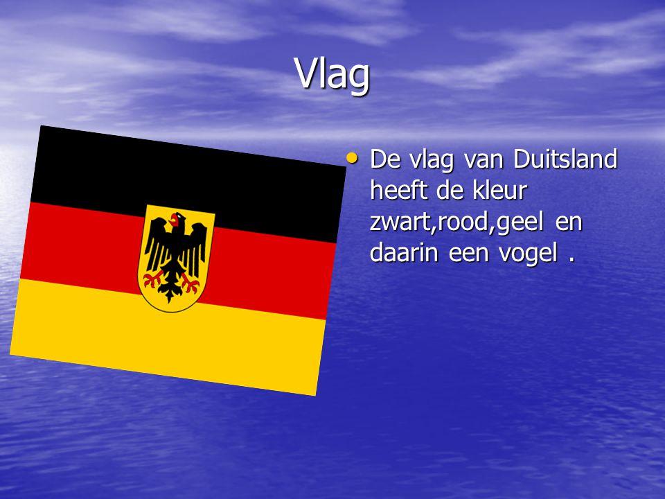 Vlag De vlag van Duitsland heeft de kleur zwart,rood,geel en daarin een vogel .