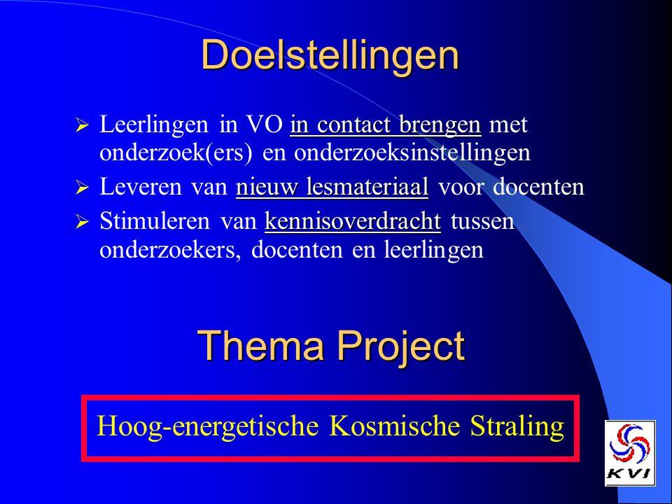 Doelstellingen Thema Project Hoog-energetische Kosmische Straling