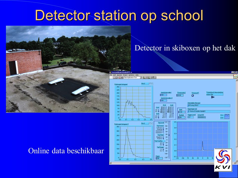 Detector station op school