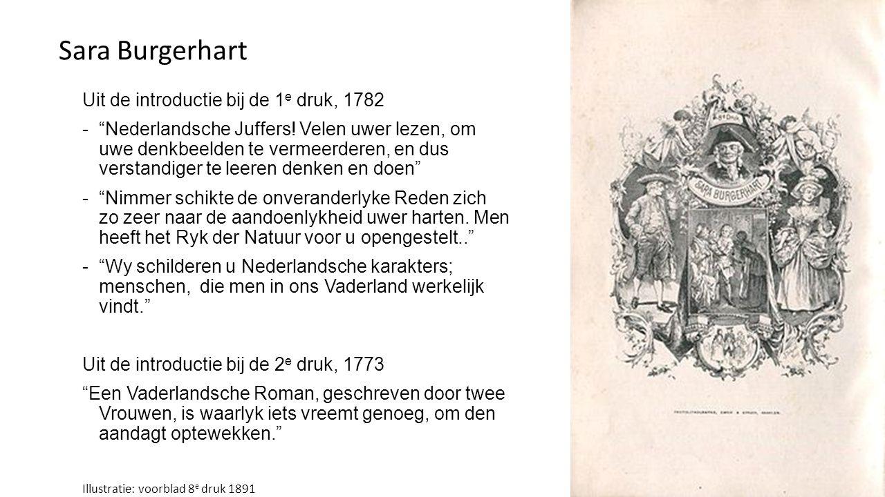 Sara Burgerhart Uit de introductie bij de 1e druk, 1782