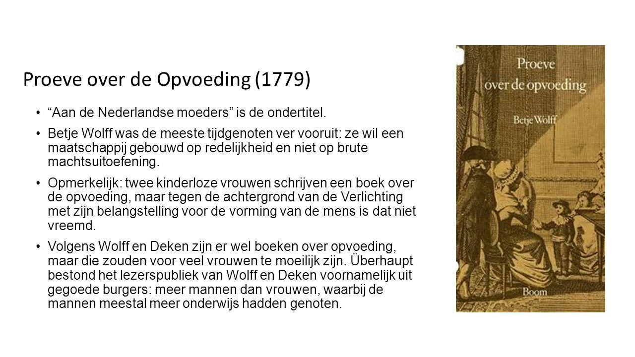 Proeve over de Opvoeding (1779)