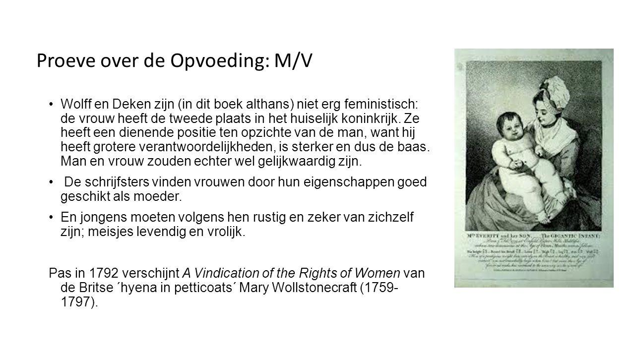 Proeve over de Opvoeding: M/V