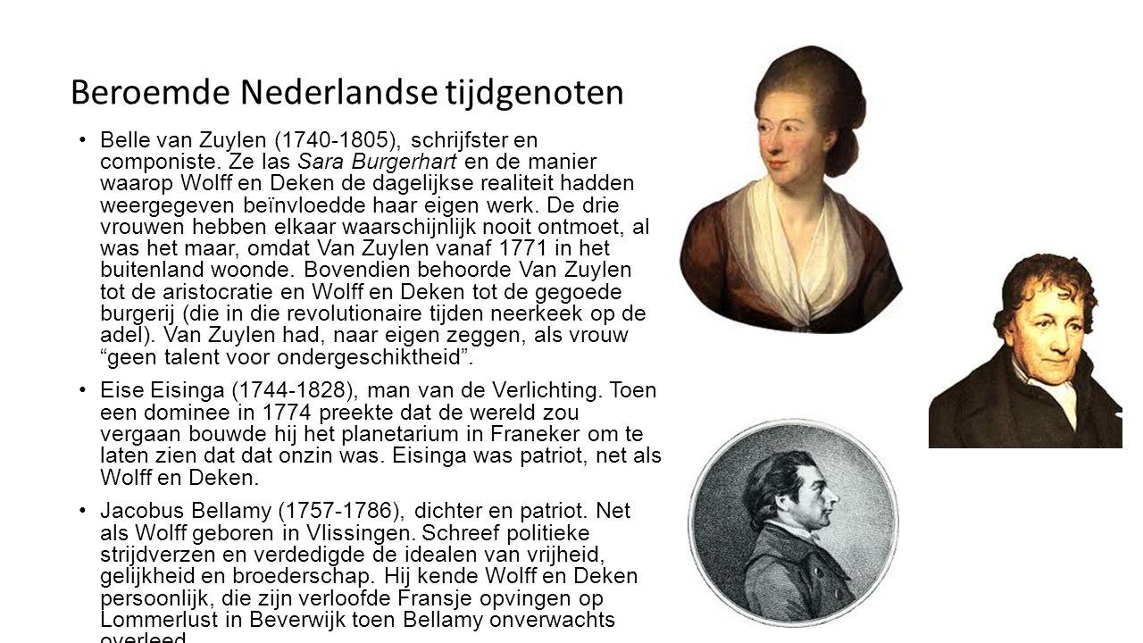 Beroemde Nederlandse tijdgenoten