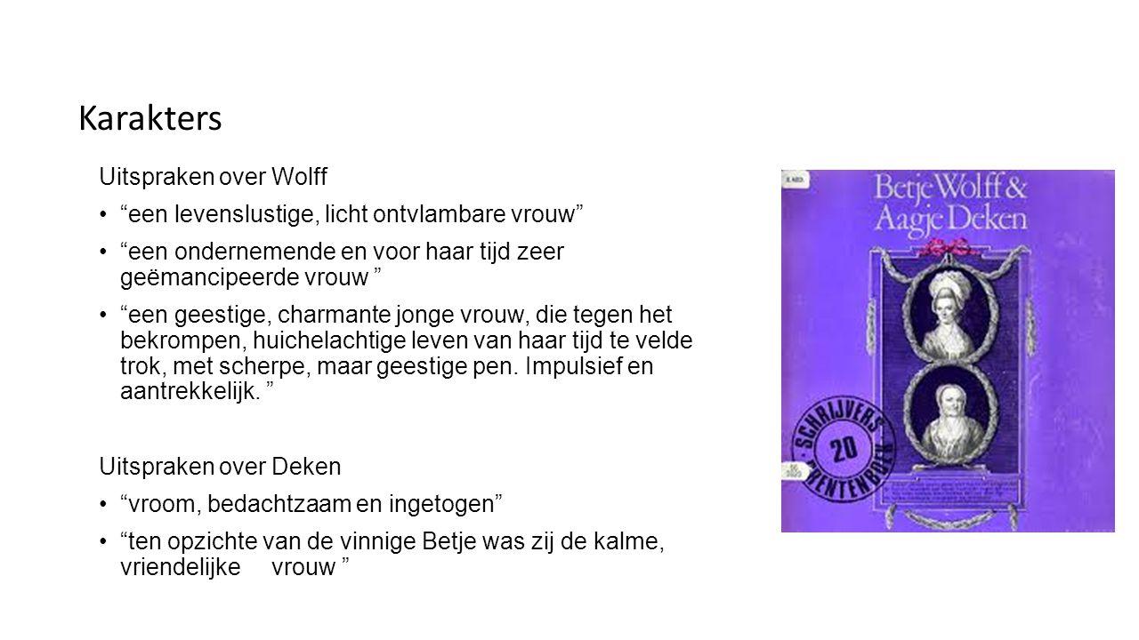 Karakters Uitspraken over Wolff