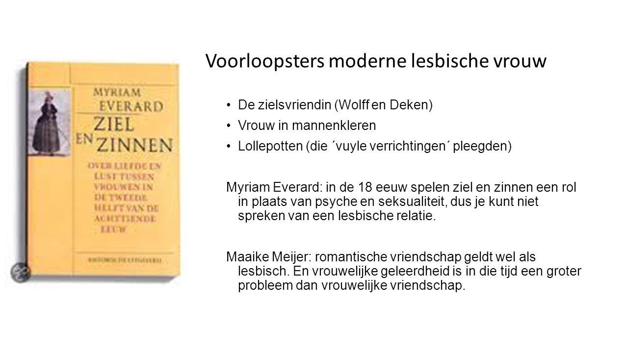 Voorloopsters moderne lesbische vrouw
