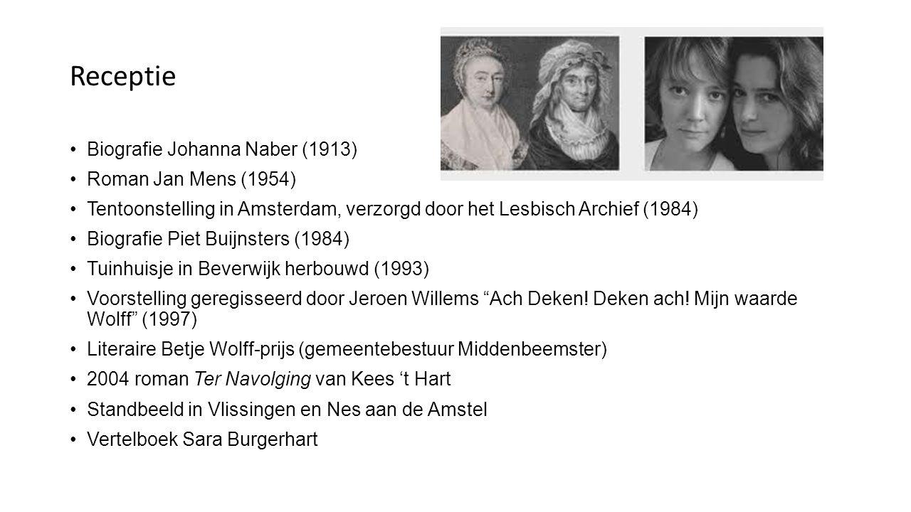 Receptie Biografie Johanna Naber (1913) Roman Jan Mens (1954)
